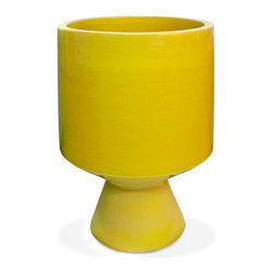 Yellow Okura Planter - I love picturing this yellow planter with a large green fern or succulent. The yellow and green would add a bright touch to a bedroom or living area.