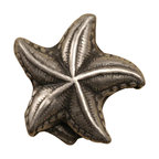 Anne At Home - Starfish Knob (Set of 10) (Weathered White) - Finish: Weathered White. Hand cast and finished. Made in the USA. Pewter with brass insert. 0.75 in. L x 0.75 in. W x 0.75 in. H