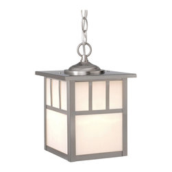 Vaxcel - Mission Stainless Steel Outdoor Hanging Lantern - Vaxcel OD14676ST Mission Stainless Steel Outdoor Hanging Lantern