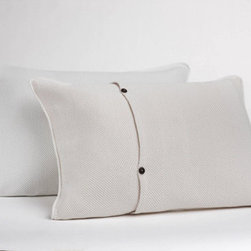 Coyuchi - Herringbone Matelasse Sham - A witty angle on matelassé, with delicate contrast stitches highlighting the textural herringbone pattern. Rounded corners and hemmed turn-back edges. Coconut shell buttons. Features: -Herringbone Matelasse Collection. -Material: 100% Organic cotton. -Textural matelassé, traced with contrast stitching. Care Instructions: -All cotton and linen products are machine washable. -For whites and light colors: Machine wash on the gentle or delicate cycle with warm water and non-phosphate soap. -For dark colors: Machine wash on gentle or delicate cycle with cold water and non-phosphate soap. -Line dry, or tumble dry low and remove promptly. -Use a warm iron on cotton, or a hot iron on linen, as needed. -Do not use whiteners as bleaching agents as they may diminish the brilliance and depth of the colors; when needed, use only non-chlorine bleach. -Please refer to the product tag for more specific instructions.