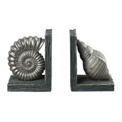Sterling Industries - Sterling Industries 87-8000 Shell Bookends - Bookend (2)