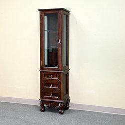 Bellaterrra - Bellaterra 202016H Linen Cabinet-Wood-Walnut - 17.3x14x66.1 in. - Bellaterra 202016H Linen Cabinet-Wood-Walnut  - 17.3x14x66.1 in.
