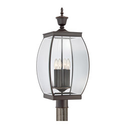 Quoizel - Quoizel OAS9011Z Oasis 4 Light Post Lights & Accessories in Medici Bronze - This 4 light Post Lantern from the Oasis collection by Quoizel will enhance your home with a perfect mix of form and function. The features include a Medici Bronze finish applied by experts. This item qualifies for free shipping!