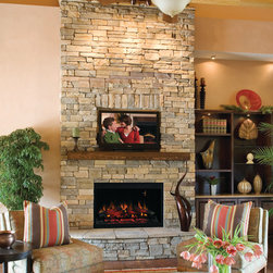 "ClassicFlame - ClassicFlame 36-Inch 120V Traditional Builders Box - 36EB110-GRT - The ClassicFlame 36"" 120V Traditional Builders Box is perfect for installation in any room of your home. Whether you are going through renovations or new construction, you will be able to enjoy the benefits of a fireplace that is quick and easy to install. You may hardwire the firebox to a 120V electrical circuit or use the included plug kit for a convenient installation."
