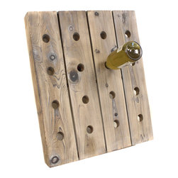 None - French Style 16-bottle Wine Riddling Rack Holder - Display your wine collection the French way with this wood riddling wine rack. It has a rustic finish that still looks modern to suit any decor. The rack has space for up to 16 bottles of various sizes and is sturdy enough to withstand the weight.