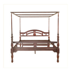 Allepey Four Poster Bed - The Allepey Four Poster Bed is an exquisite antique four poster bed made from tropical rosewood.
