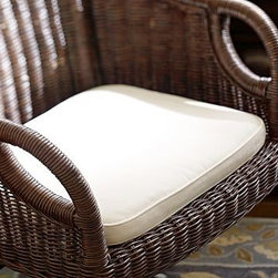 """Swivel Desk Armchair Cushion, Brushed Canvas Natural - A schoolhouse antique inspired our swiveling hardwood chair. Seat height adjusts from 16"""" to 20"""" high. Use our seat cushion for more comfort. 18"""" wide x 22"""" deep; height adjusts from 35"""" to 39"""" Chair swivels and tilts, and rolls easily on casters.Seat is contoured and Features adjustable height.Available in Mahogany stain, Black or Espresso stain. Wood swatches, below, are available for $25 each. We will provide a merchandise refund for wood swatches if they're returned within 30 days.Select items are Catalog / Internet Only. View our {{link path='pages/popups/fb-home-office.html' class='popup' width='480' height='300'}}Furniture Brochure{{/link}}."""