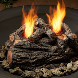 Outdoor Gel-Fueled Log Set for Fire Pits - No worries if you run out of wood for the fire pit. This gel canister log pile is perfect for summer campfires!