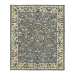 None - Felicity Comfort Grey Hand Tufted Wool Rug (5'0 x 7'6) - This Felicity rug combines the perfect combination of texture and color to complete your room. This rug is hand crafted with pride in India of only the finest 100-percent premium virgin wool.