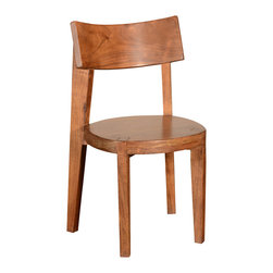 Sierra Living Concepts - Solid Wood Contemporary Frozen Chair(Set Of 2) - Funny name, serious style. Here is a chair you can fall in love with. It's slightly rustic with great lines and contemporary/transitional styling. It's has Acacia wood to thank for its unique wood grain and color. It's a perfect companion to any of our line of contemporary Acacia wood tables. It's durable and easy to care for. And it comes pre-assembled, just wipe with a clean cloth.