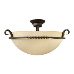 Hinkley Lighting - Hinkley Lighting 4311OL Casa Olde Olde Black Semi-Flush Mount - Hinkley Lighting 4311OL Casa Olde Olde Black Semi-Flush Mount