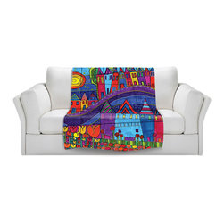 DiaNoche Designs - Throw Blanket Fleece - Purple Mountain - Original Artwork printed to an ultra soft fleece Blanket for a unique look and feel of your living room couch or bedroom space.  DiaNoche Designs uses images from artists all over the world to create Illuminated art, Canvas Art, Sheets, Pillows, Duvets, Blankets and many other items that you can print to.  Every purchase supports an artist!