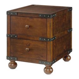 Hammary - Hammary Hidden Treasures Trunk End Table - - 090-521.  Product features: Belongs to Hidden Treasures Collection by Hammary; 2 Drawers w/Full Extension Drawer Guides. Product includes: Trunk End Table (1)                                   . Trunk End Table belongs to Hidden Treasures Collection by Hammary.