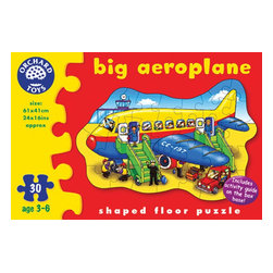 """The Original Toy Company - The Original Toy Company Kids Children Play Big Aeroplane - Take off with this colorful aeroplane puzzle. Comes with a fun activity guide on the reverse of the box. Ages 3-6 years. Puzzle size- 21""""x 16"""". 30 pieces. Made in England. Weight: 2 lbs."""