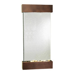 Adagio Water Features - Whispering Creek Wall Fountain, Copper Vein, Silver Mirror - The perfect indoor fountain for home or office.