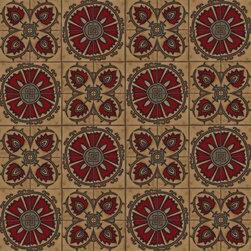 Metolius Ridge Artisan Tile - Suzani Flower and Thistle Carpet Design in Tile