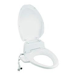 KOHLER - KOHLER Elongated Bowl Toilet Seat with Bidet Functionality - KOHLER K-4737-0 C3-125 Elongated Bowl Toilet Seat with Bidet Functionality - includes Tank Heater in White