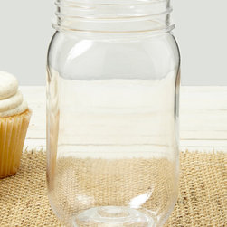 Creative Converting - Rustic Wedding Mason Jar Favor - Set of Two - Incorporate these versatile mason jars into your wedding for a decorative centerpiece or for a goodie-filled party favor.   Includes two jars Holds 16 oz. Plastic Imported