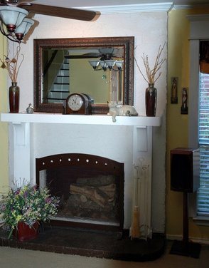 Fireplace Mantel Surround Replace Remodel Leave As Is