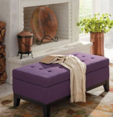modern ottomans and cubes by Grandin Road