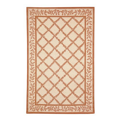 """Safavieh - Chelsea Brown Area Rug HK230C - 2'6"""" x 6' - 100% pure virgin wool pile, hand-hooked to a durable cotton backing. American Country and turn-of-the-century European designs. This collection is handmade in China exclusively for Safavieh."""