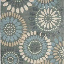 Safavieh - Safavieh Jardin JAR455A 10' x 14' Gray, Blue Rug - Safavieh's Jardin rug is made in India using the latest colors mated to the latest designs we are known for. Hand-tufted for superior texture and detail.