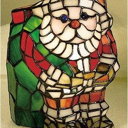 Meyda Tiffany - Meyda Tiffany 17241 Stained Glass / Tiffany Specialty Lamp Tiffany Scul - Tiffany SculpturesTiffany Small Santa Accent Lamp1 Candelabra bulb, 15w (max)
