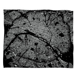 DENY Designs - Cityfabric Inc Paris Black Fleece Throw Blanket - This DENY fleece throw blanket may be the softest blanket ever! And we're not being overly dramatic here. In addition to being incredibly snuggly with it's plush fleece material, it's maching washable with no image fading. Plus, it comes in three different sizes: 80x60 (big enough for two), 60x50 (the fan favorite) and the 40x30. With all of these great features, we've found the perfect fleece blanket and an original gift! Full color front with white back. Custom printed in the USA for every order.