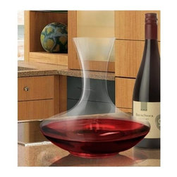 Vinotemp - Epicureanist Decanter - Break-resistant glass. Dishwasher safe. Machine made in Europe. Capacity: 750 ml. 8.5 in. Dia. x 8.63 in. H (1.5 lbs.). WarrantyBring out your wine�۪s best qualities and full flavor with this elegant decanter. Not only will it make a chic addition to the dinner table, its wide base and curved neck make for easy handling.