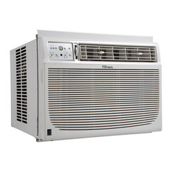 "Danby - 15,000 BTU Window Air Conditioner - 15,000 BTU air conditioner cools approximately 700 sq.ft., Energy Efficiency Rating (EER) of 10.7, R410A-Non ozone depleting refrigerant, Variable electronic temperature control 17C - 30C, 4 way air direction, 3 speed fan circulates the air, Energy Saver Switch: Cycles the fan on and off after the compressor shuts off, Sleep Mode: Prevents the room from becoming too cold at night, Auto on/off: Have the unit start or stop to meet your schedule, Minimum window height required 18 8/16"", Unit dimensions 23 5/8"" W x 25 1/2"" D x 17 11/16"" H"
