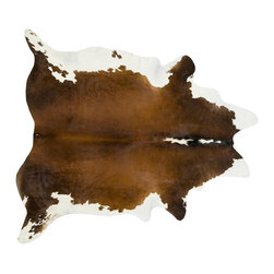 #N/A - Cow Hide Rug in Brown, Black and White XL - Cow Hide Rug in Brown, Black and White XL. Hair on Hide Rug Natural Form