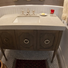 traditional powder room by Avante Interiors