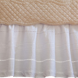 Elisa Egg-Shell White Twin Bed Skirt