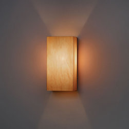 Ultralights - Basics Wall Sconce - Basics feature colored acrylic diffusers bringing unique lighting to any area. Diffuser available intea stained acrylic. One 60 watt, 120 volt, B10 candelabra base incandescent lamp not included. General light distribution. ADA compliant. 5W x 10H x 4 inch depth.