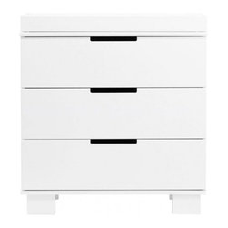 Modo 3 Drawer Changer - Bring sweet cottage style while still exuding contemporary styling, and transform your nursery into a warm, inviting place. The Modo 3 Drawer changer is a modern delight! The three spacious drawers open smoothly and provide plenty of space to stow away baby clothes, booties and blankets. This minimalist style drawer is sure to provide years of beauty and function. Couple the Modo Changer with the Mercer Crib for a tastefully chic and complete baby room!