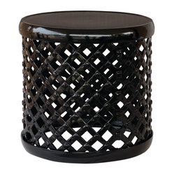"Marlow 18"" Drum Stool, Black"