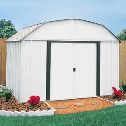 Arrow Yorktown Shed - Take a look at some of our Arrow brand sheds. Arrow is the leading manufacturer of steel sheds in the USA. They offer a very economical solution to all of your storage needs. Arrow has a full line of small garden sheds to large garages.