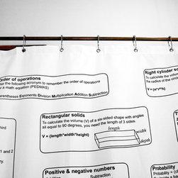 Math Formulas Shower Curtain -