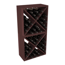"""Wine Racks America - 48 Bottle Wine Cube Collection in Premium Redwood, Walnut Stain - Two versatile 24 bottle wine cubes. Perfect for nooks, crannies, and converting that """"underneath"""" space into wine storage. Mix and match finishes for a modern wine rack twist. Popular for its quick and easy assembly, this wine rack kit is a perfect storage solution for beginners and experts."""