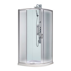 BathAuthority LLC dba Dreamline - Solo Frameless Sliding Shower Enclosure, Base and Qwall-4 Shower Backwalls Kit - This Dream Line kit includes a space saving Solo shower enclosure, Slim Line shower base and coordinating shower backwalls for a winning combination. The Solo's sliding shower door provides easy access to the shower without requiring a large open space. The Slim Line shower base incorporates a low profile design for a sleek modern look, is scratch and stain resistant and fiberglass reinforced for added strength. The wall panels have a tile pattern and are easy to install with a trim-to-size fit. Both the shower panels and shower base are made from durable and attractive Acrylic/ABS advanced materials. A kit from Dream Line is all you need to update an entire shower space.