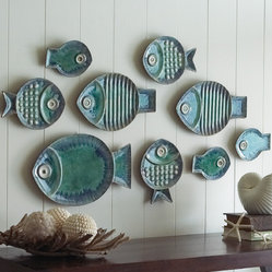 Malibu Fish Plates, Set of 9