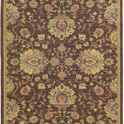 Tommy Bahama Area Rugs - Cabana 002N2 Brown and Beige Rectangular: 5 Ft. 3 In. x 7 Ft. 6 In. Rug - - The Cabana collection from Tommy Bahama Home features a line of area rugs beautiful enough for the indoors but durable enough to bring its beauty outdoors. The line boasts an 8-color spaced dyed loop pile for added texture, depth and dimension. Featuring a sophisticated color palette in traditional to global designs, Cabana is the perfect addition to any indoor or outdoor space.  - Construction: Machine Woven  - Material: Polypropylene  - Care Instructions: Spot clean with water and mild soap  - Primary Pattern: Oriental  - Pile Height in Inches: 0.31  - Country of Origin: Egypt Tommy Bahama Area Rugs - 748679393398