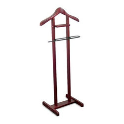 Proman - Proman Lancaster Valet Mahogany with Black Hardware - Lancaster Valet Mahogany with Black Hardware. Elegant design, in style with Black hardware Suitable for bedroom, guest room and office. Constructed with solid hard wood. Hand crafted for the contoured uprights.