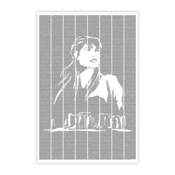 Postertext - Tess Of The D'Urbervilles Art Print - Made Entirely With Text (B & W) - This Tess of the d'Urbervilles poster is made entirely out of text from the book.