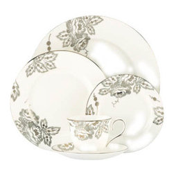 Lenox - Lenox L Collection Floral Waltz 5-Piece Place Setting - Lenox L Collection Floral Waltz 5-Piece Place Setting