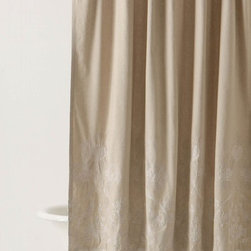 Noble Pheasant Shower Curtain - I love neutral curtains, mostly because I like an unfettered view of the sunlight and outdoors. However, this curtain has a subtle design embroidered on the bottom that gives it a little extra interest.