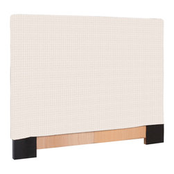 Howard Elliott - Howard Elliott Tempo White FQ Slipcovered Headboard - Fq slipcovered headboard tempo white