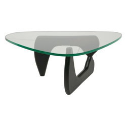 Nuevo - Yin Yang Small Glass Top Coffee Table, Dark Chocolate - Nuevo Living is a premier manufacturer of high quality modern furniture and decor. Nuevo Specializes in wonderful original designs, high quality interpretations of modern classics, designer decorating items, and specialty lighting. Creating a modern home environment is easy with Nuevo Modern Designs.