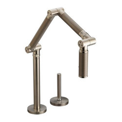 KOHLER - KOHLER K-6227-C15-BV Karbon Articulating Single-Control Kitchen Faucet with Bron - KOHLER K-6227-C15-BV Karbon Articulating Single-Control Kitchen Faucet with Bronze TubeFree your hands at the kitchen sink with the Karbon Articulating Kitchen Faucet. Designed with multiple, moveable joints, the faucet allows you to position and lock water flow exactly where you need it. You can extend the faucet fully to fill large pots, lower it into the sink for food preparation and cleanup, fold it compactly out of the way when not in use, or position it anywhere in between.KOHLER K-6227-C15-BV Karbon Articulating Single-Control Kitchen Faucet with Bronze Tube, Features:• Unique contemporary styling that is both intriguing and easy to clean and maintain