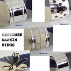 Silver Plated Napkin Rings - We are an India based manufacturer , supplier and exporter of Handicrafts, Gift Items, Christmas Decorations, Fashion Jewelry, Corporate Gifts, Nautical Gifts, Tablewares, Napkin Rings, Napkin Holders and other classy home furnishings which are known widely for their high quality.